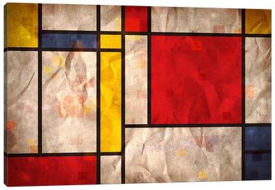 Mondrian Inspired Canvas Print #8876