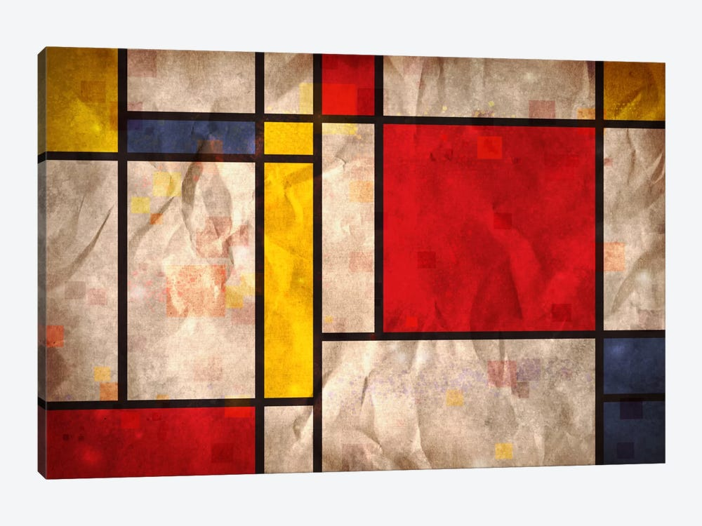Mondrian Inspired by Michael Tompsett 1-piece Canvas Art Print