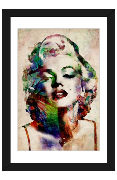 Watercolor Marilyn Monroe Framed Art Print