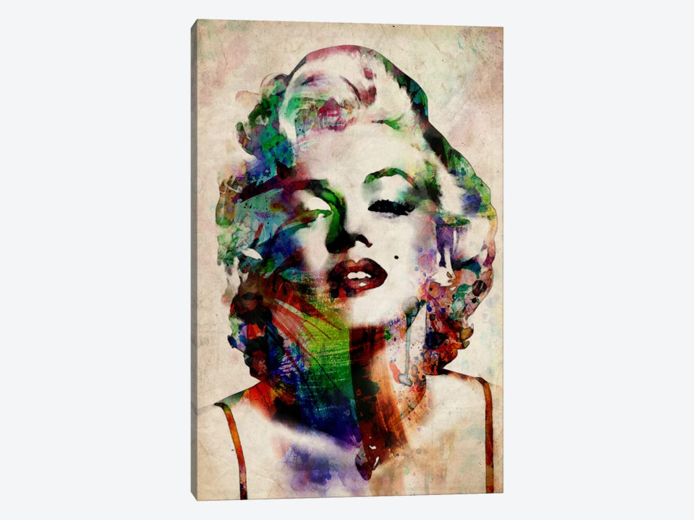 Watercolor Marilyn Monroe by Michael Tompsett 1-piece Canvas Art Print