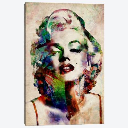 Watercolor Marilyn Monroe Canvas Print #8883} by Michael Tompsett Canvas Wall Art