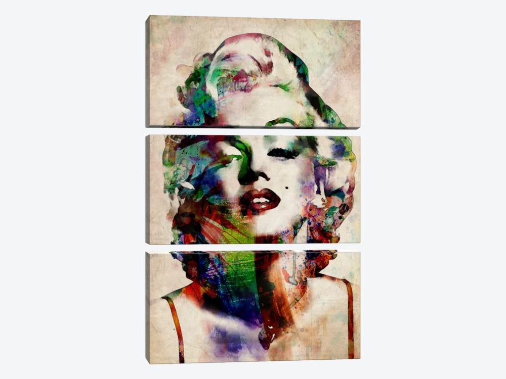 Watercolor Marilyn Monroe by Michael Tompsett 3-piece Canvas Art Print