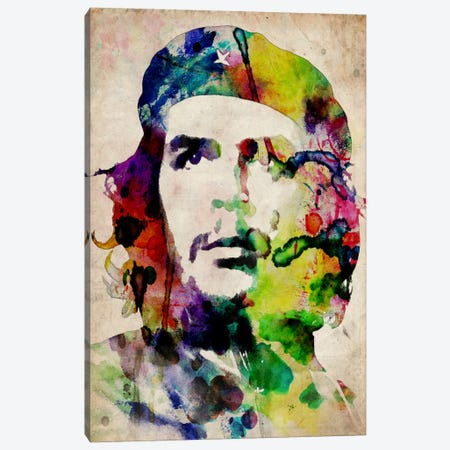 Che Guevara Urban Watercolor Canvas Print #8884} by Michael Tompsett Art Print