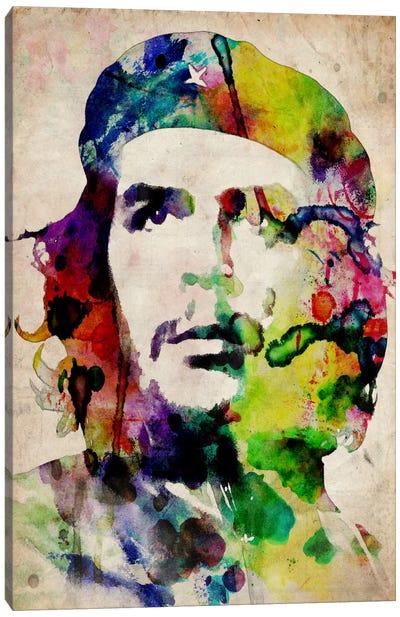 Che Guevara Urban Watercolor Canvas Print #8884
