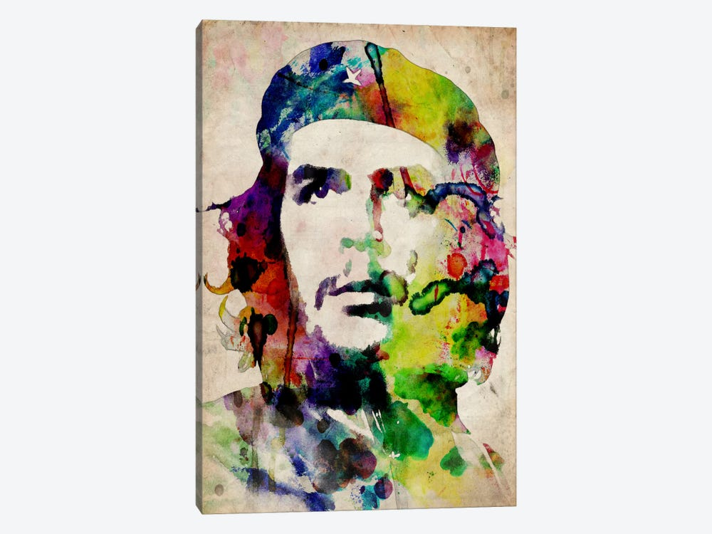 Che Guevara Urban Watercolor by Michael Tompsett 1-piece Canvas Artwork