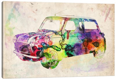 Mini Cooper (Urban) II Canvas Art Print