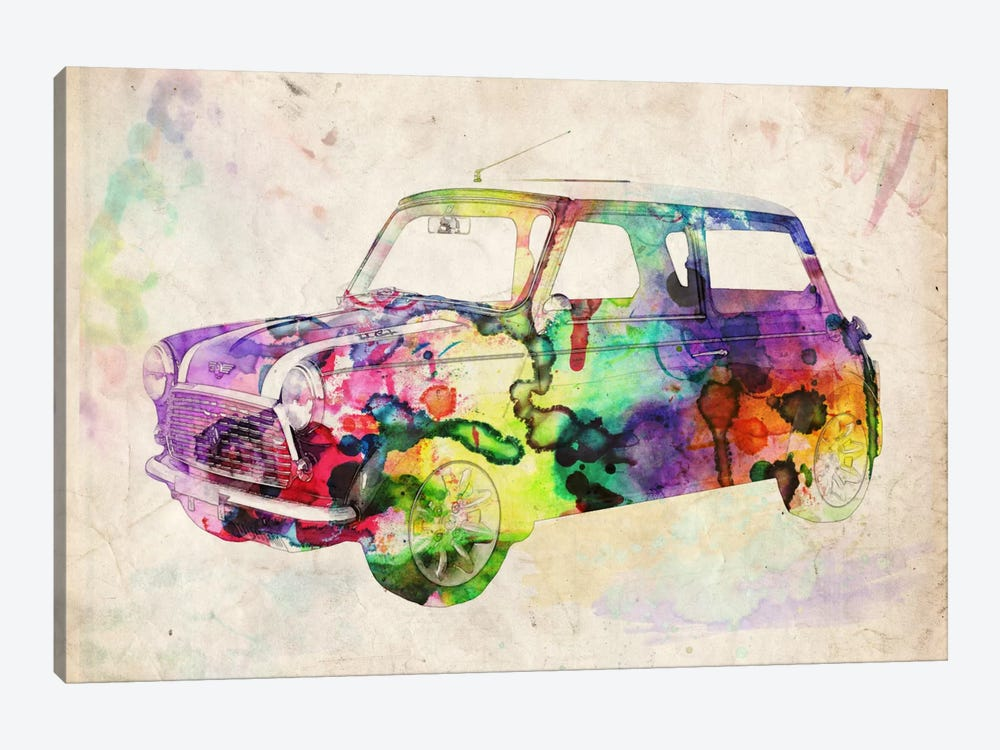 Mini Cooper (Urban) II 1-piece Canvas Print