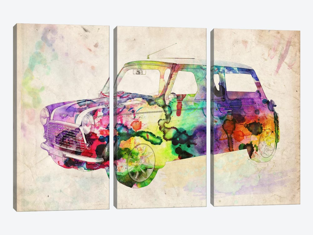 Mini Cooper (Urban) II by Michael Tompsett 3-piece Art Print