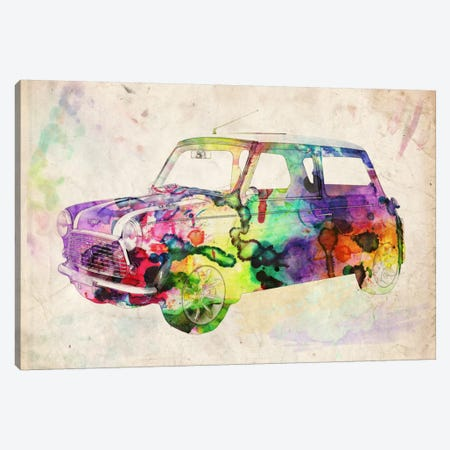 Mini Cooper (Urban) II Canvas Print #8885} by Michael Tompsett Canvas Print