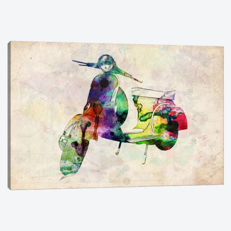 Scooter Vespa (Urban) Canvas Print #8886} by Michael Tompsett Canvas Print
