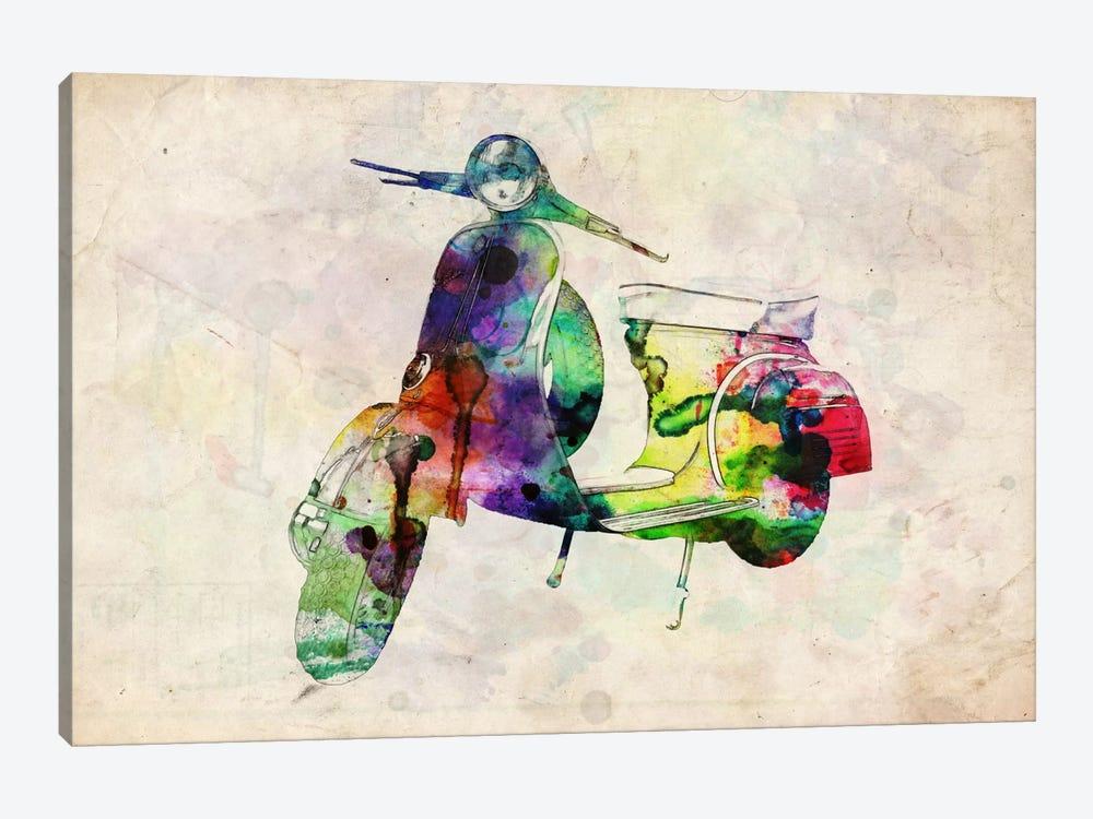 Scooter Vespa (Urban) by Michael Tompsett 1-piece Canvas Artwork