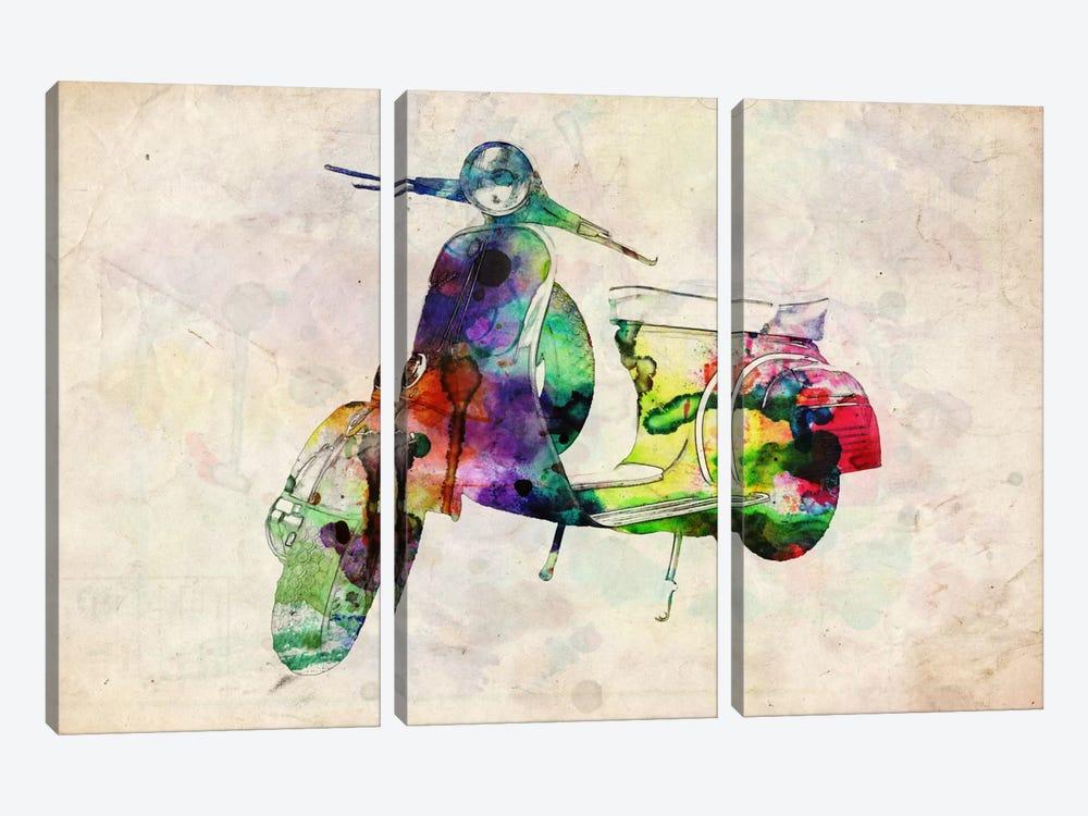 Scooter Vespa (Urban) by Michael Tompsett 3-piece Canvas Wall Art