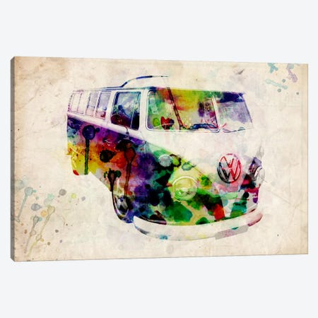 VW Camper Van (Urban) Canvas Print #8887} by Michael Tompsett Canvas Art Print