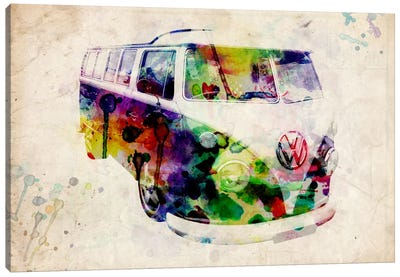 VW Camper Van (Urban) Canvas Art Print