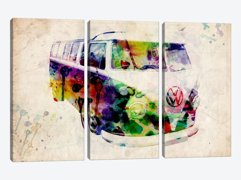 VW Camper Van (Urban) by Michael Tompsett 3-piece Art Print
