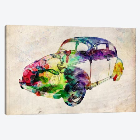 VW Beetle (Urban) Canvas Print #8888} by Michael Tompsett Canvas Wall Art
