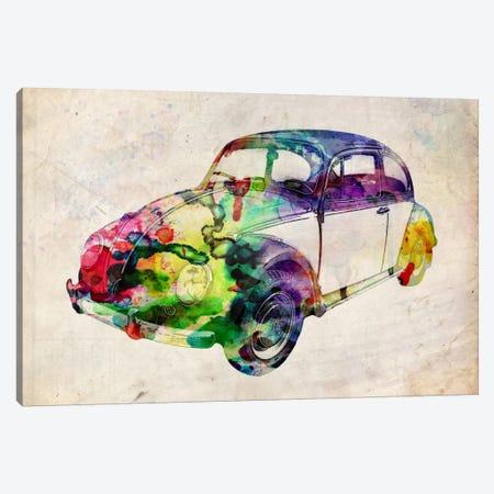 VW Beetle (Urban) Canvas Print #8888} by Michael Tompsett Canvas Wall Art