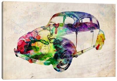 VW Beetle (Urban) Canvas Art Print