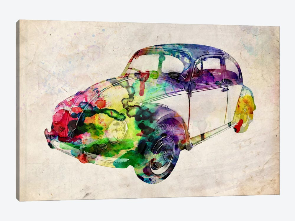 VW Beetle (Urban) by Michael Tompsett 1-piece Canvas Artwork