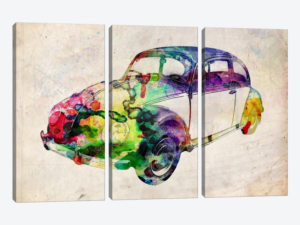 VW Beetle (Urban) by Michael Tompsett 3-piece Canvas Artwork