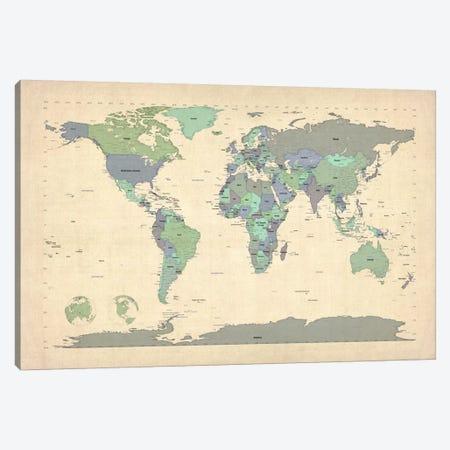 Map of The World VI Canvas Print #8899} by Michael Tompsett Art Print