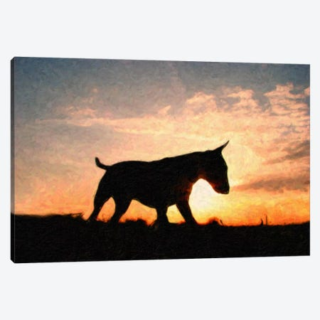 English Bull Terrier Canvas Print #8912} by Michael Tompsett Canvas Wall Art