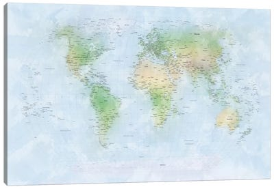 World Map III Canvas Print #8931
