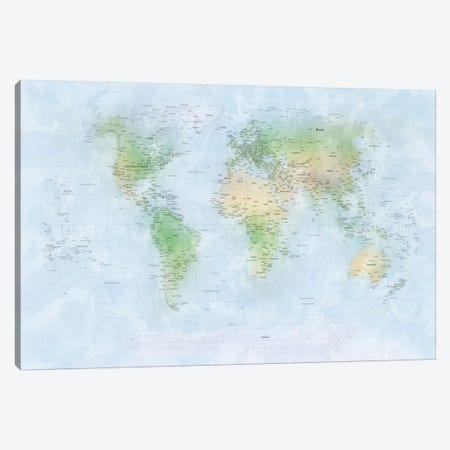 World Map III Canvas Print #8931} by Michael Tompsett Canvas Art
