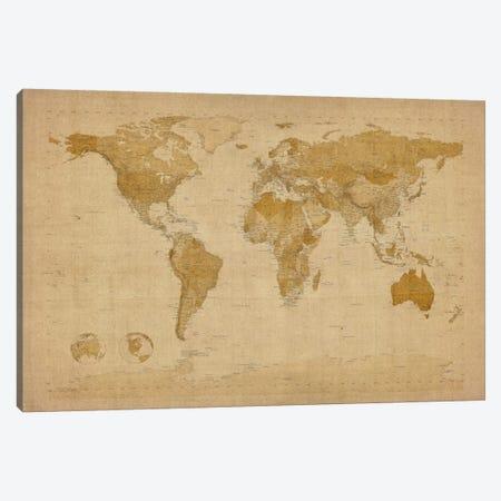 Antique World Map II Canvas Print #8939} by Michael Tompsett Canvas Artwork