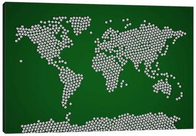 Football Soccer Balls World Map Canvas Art Print
