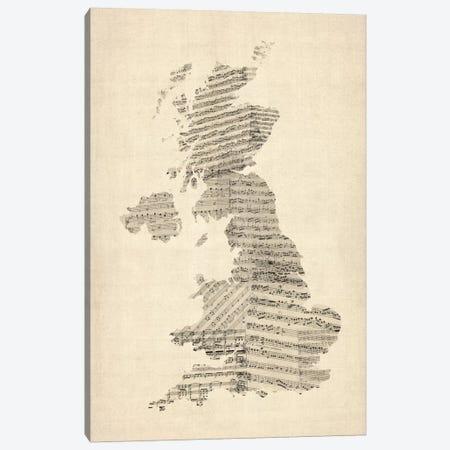 Great Britain Music Map II Canvas Print #8965} by Michael Tompsett Canvas Artwork