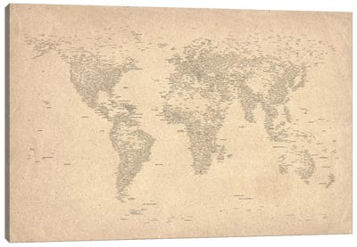World Map of Cities II Canvas Print #8969