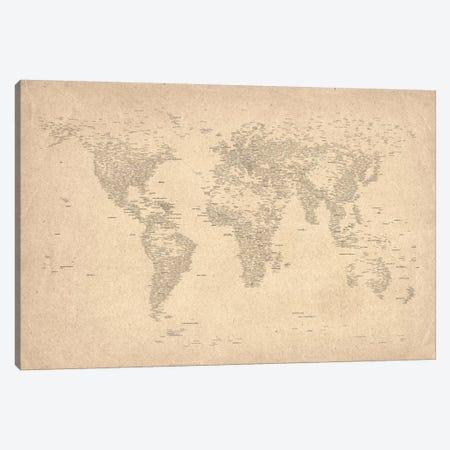 World Map of Cities II Canvas Print #8969} by Michael Tompsett Art Print