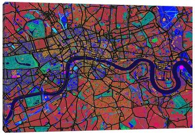 London Map (Abstract) V Canvas Art Print