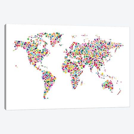 Stars World Map II Canvas Print #8978} by Michael Tompsett Canvas Artwork