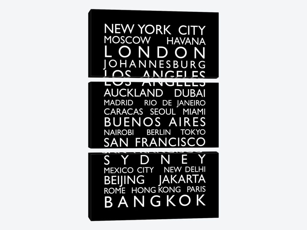 World Cities Bus Roll by Michael Tompsett 3-piece Art Print