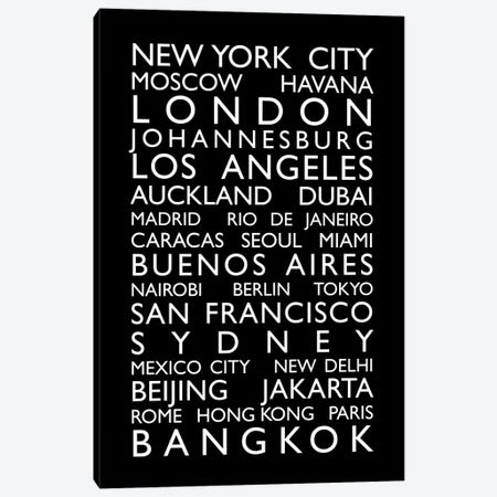 World Cities Bus Roll Canvas Print #8984} by Michael Tompsett Canvas Art