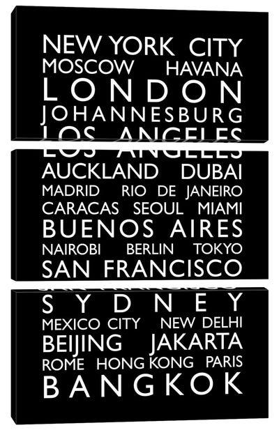 World Cities Bus Roll Canvas Art Print