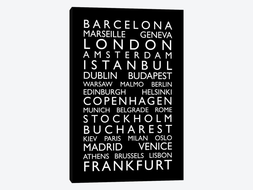 World Cities Bus Roll II by Michael Tompsett 1-piece Canvas Wall Art
