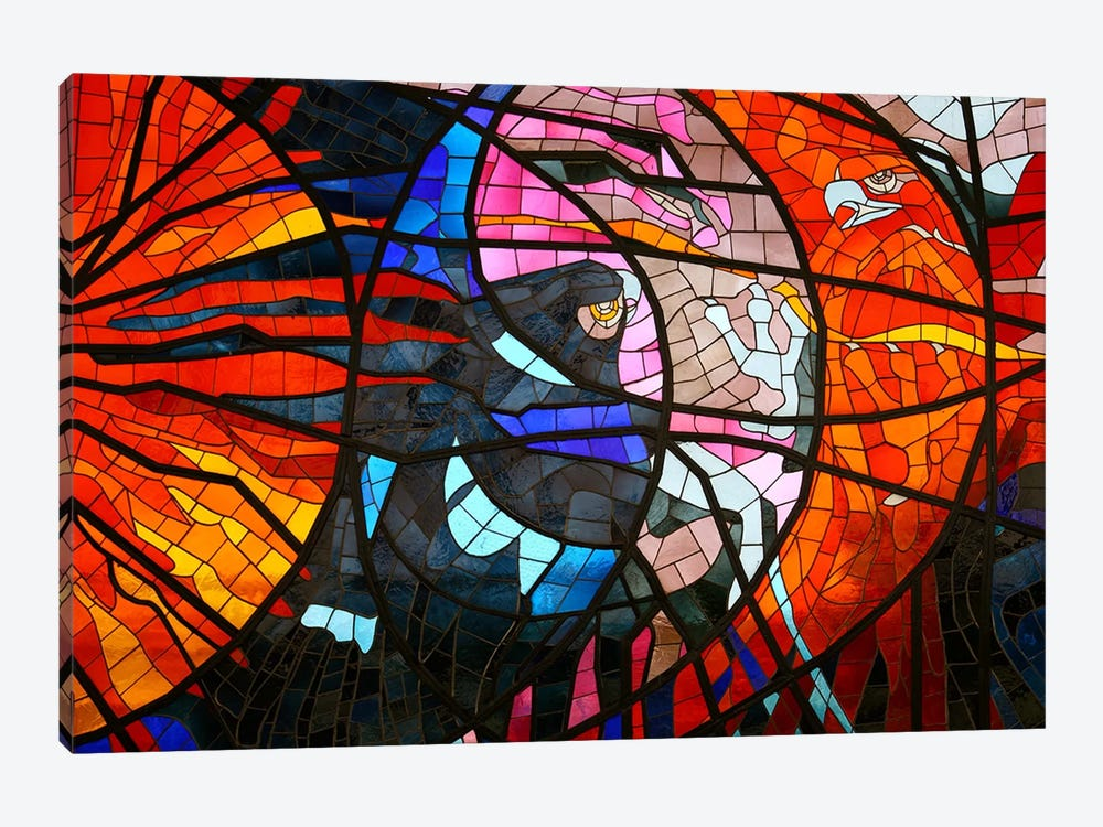 Stained Glass Window 1-piece Canvas Art Print