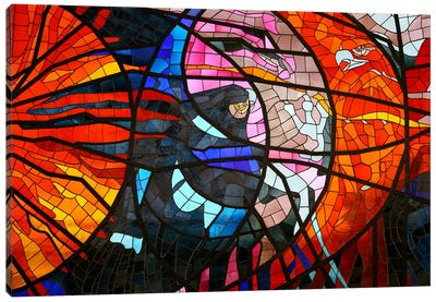 Stained Glass Window Canvas Art Print