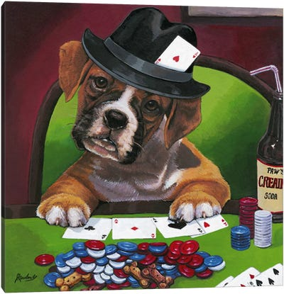 Poker Dogs Jenny Newland Canvas Art Print