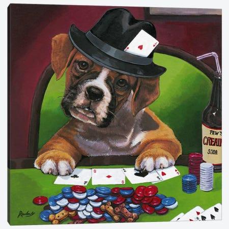 Poker Dogs Jenny Newland Canvas Print #9061} by Jenny Newland Canvas Print