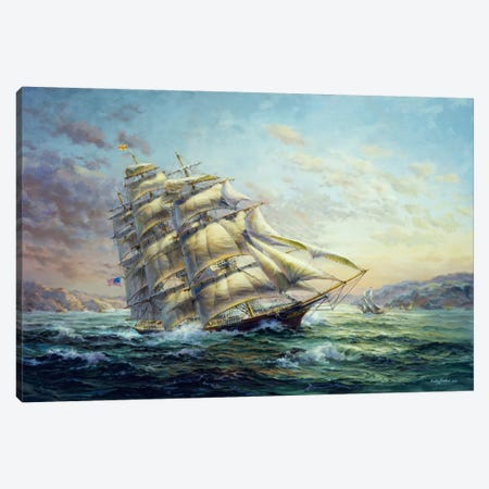 Clipper Ship Surprise Canvas Print #9064} by Nicky Boehme Canvas Wall Art