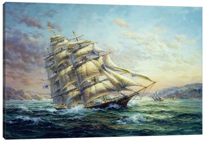 Clipper Ship Surprise by Nicky Boehme Canvas Wall Art