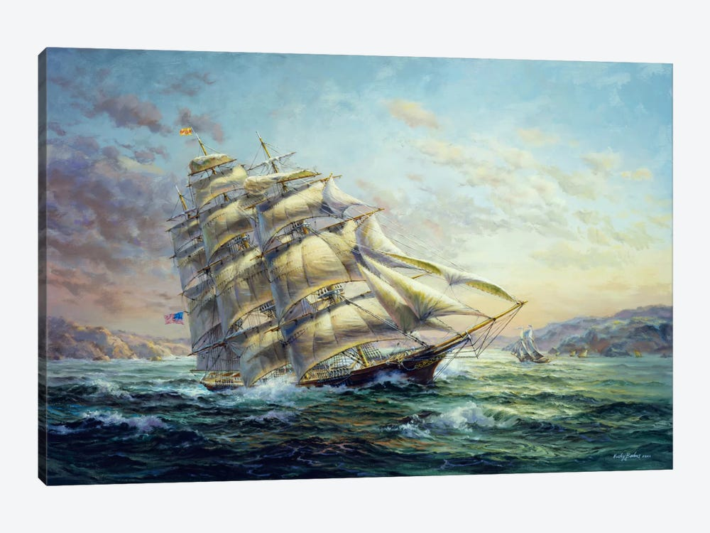 Clipper Ship Surprise by Nicky Boehme 1-piece Canvas Print