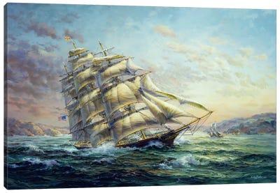 Clipper Ship Surprise Canvas Art Print