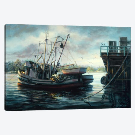 Sparkling Fish Nets Canvas Print #9066} by Nicky Boehme Canvas Wall Art