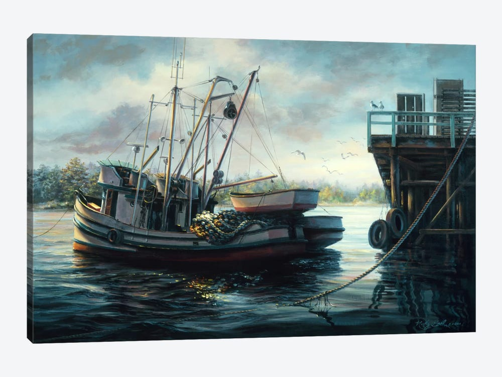 Sparkling Fish Nets by Nicky Boehme 1-piece Art Print