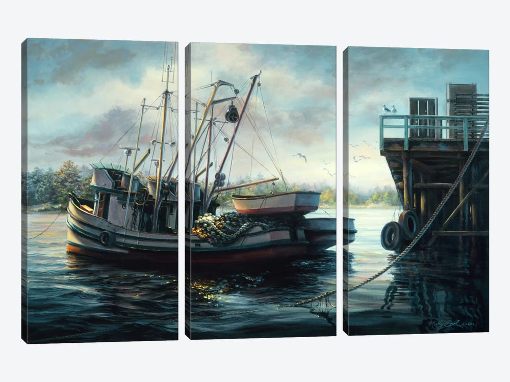 Sparkling Fish Nets by Nicky Boehme 3-piece Canvas Art Print